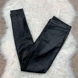 Blank NYC Black Vegan Leather Skinny Pants 26